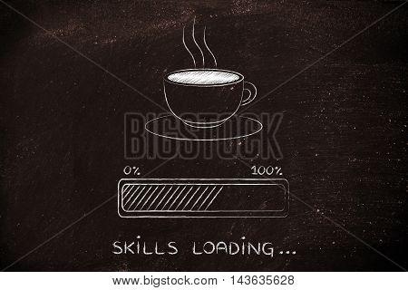 Coffee Cup & Progress Bar Loading Skills