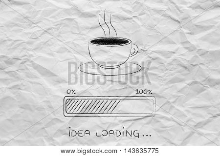 Coffee Cup & Progress Bar Loading Idea