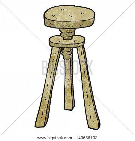 freehand textured cartoon artist stool