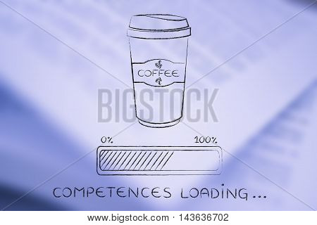 Coffee Tumbler And Progress Bar Loading Competences