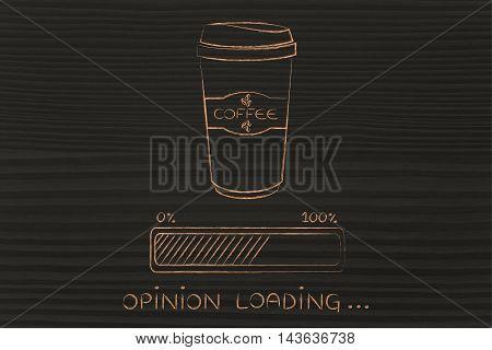 Coffee Tumbler And Progress Bar Loading Opinion