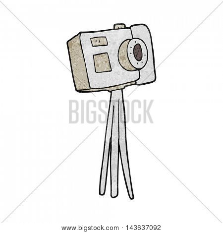 freehand textured cartoon camera on tripod
