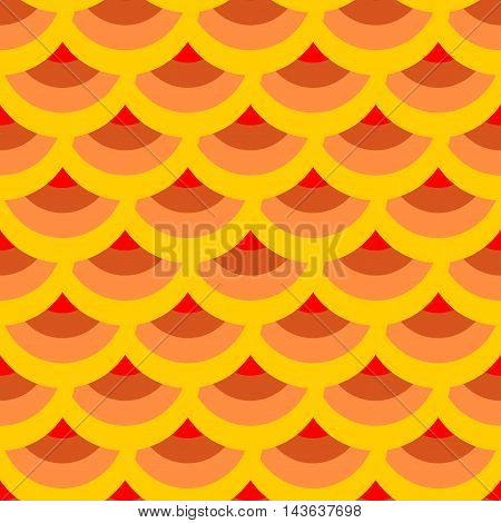 Half-round geometric seamless pattern. Fashion graphic background design. Modern stylish abstract colorful texture. Template for prints textiles wrapping wallpaper website etc. VECTOR illustration