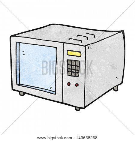freehand textured cartoon microwave