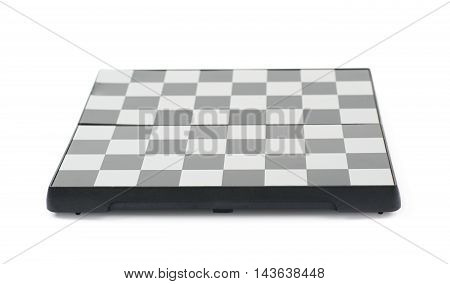 Empty chess board isolated over the white background