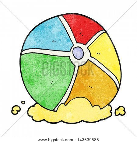 freehand textured cartoon beach ball