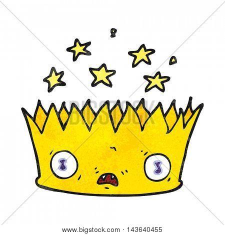 freehand textured cartoon magic crown