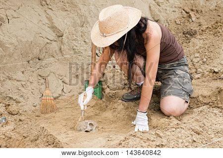 Archaeologist In The Field