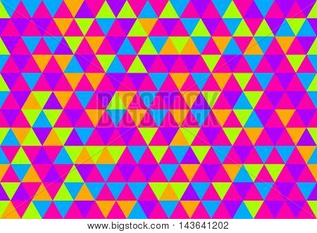 Retro Triangle Pattern Pop Is Everything mosaic background