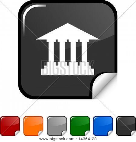 Exchange  sticker icon. Vector illustration.