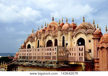 JAIPUR INDIA - FEB 15: Hawa Mahal palace - Palace of the Winds on FEB 15 2015 Jaipur India.