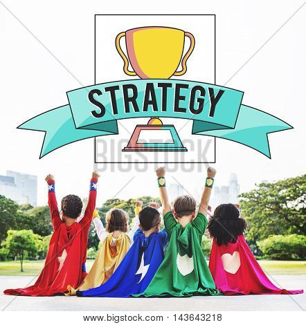 Strategy Design Game Plan Action Strategies Concept