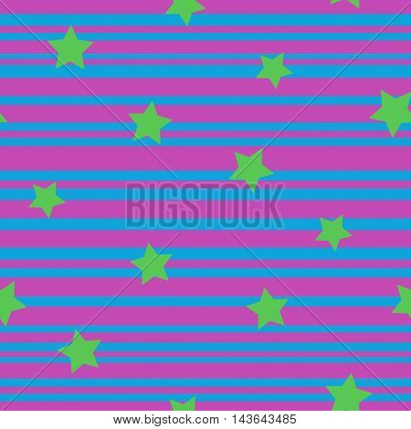 Line and star seamless pattern. Fashion graphic background design. Modern stylish abstract texture. Colorful template for prints textiles wrapping wallpaper website etc Stock VECTOR illustration