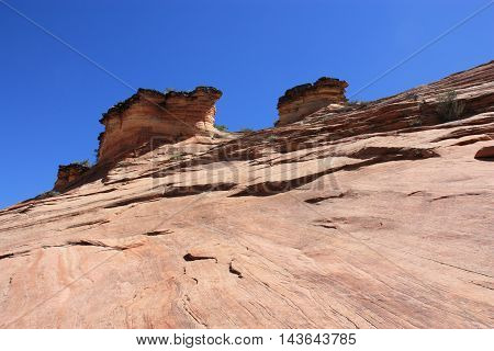 rock formations in the Zion National Park