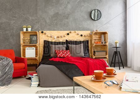 Cosy Bedroom With Coffee Table