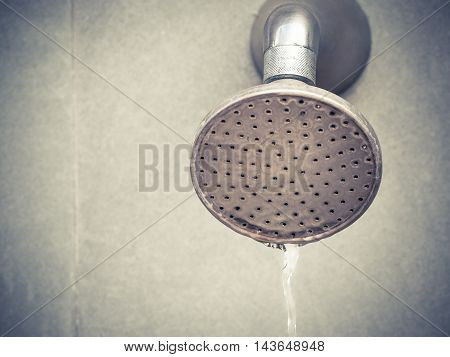 Old shower head with place your text, Selective focus and close up image