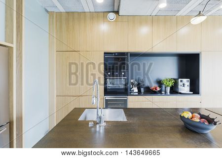 Modern Apartment's Kitchen With Avantgarde Decor