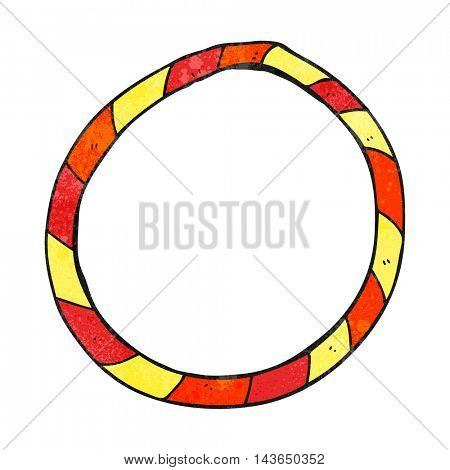 freehand textured cartoon hula hoop