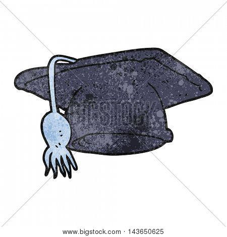 freehand textured cartoon graduation cap