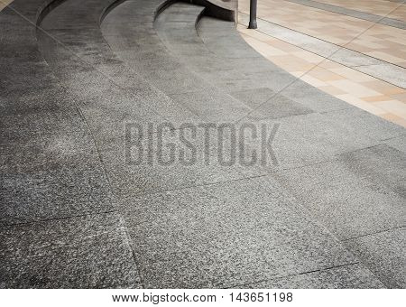 Stairway, Gray marble, Landscape architecture and background design