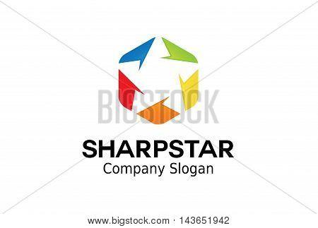 Sharp Star Logo Creative And Symbolic Design Illustration