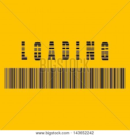 Abstract composition. Loading bar element icon. Creative web design download timer. Users completion indicator. Yellow background black cluster lines. Uploading speed symbol. Internet page progress