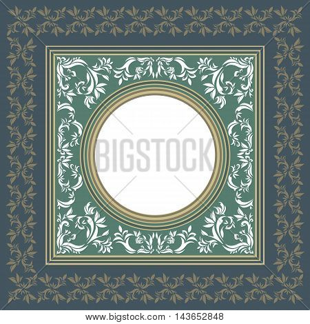 Elegant vintage frame with floral elements for your design