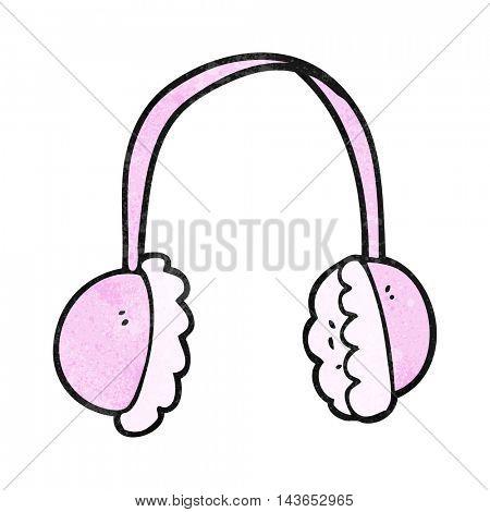 freehand textured cartoon ear muffs
