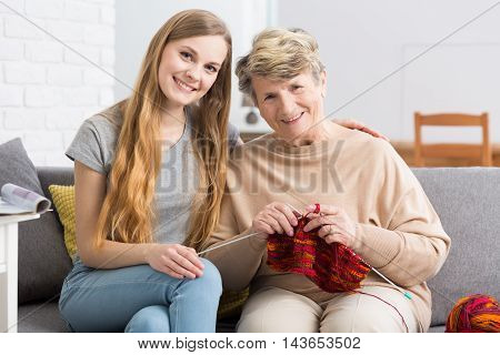 Two Women Generations Together