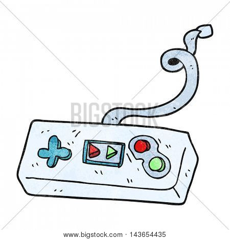 freehand textured cartoon game controller