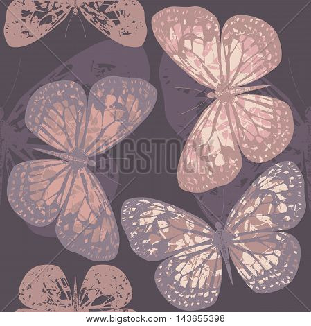 Endless pattern with beautiful butterflies can be used for wrapping, packaging, tile ,linen ,   textile design.