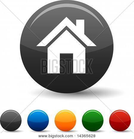 Home icon set. Vector illustration.
