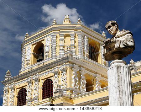 La Merced church in the Antigua town in Guatemala Central America