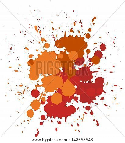 Vector blots orange-brown background. Blobs and splashes of paint.