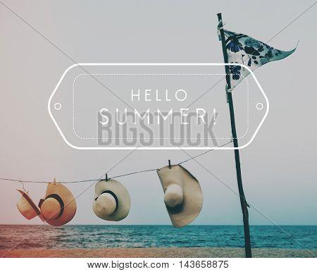 Beach Summer Travel Vacation Concept
