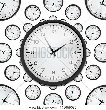 a beautiful picture clock. clock is an instrument for measuring time is hard to get a picture