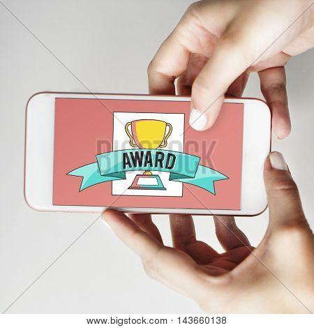 Award Success Accomplishments Goals Concept
