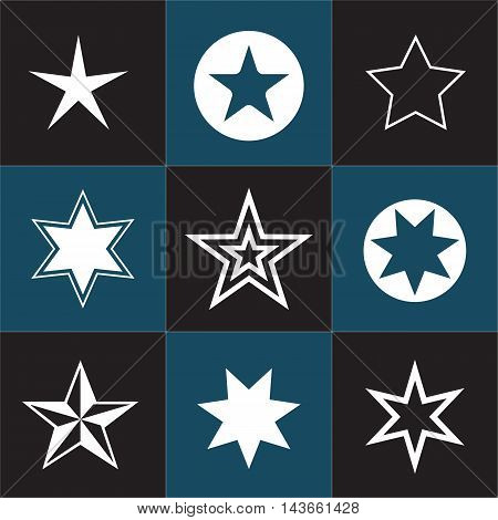 Collection star pictogram. Easy to use and edit