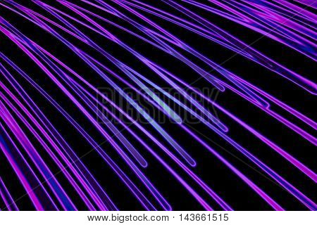Abstract image of the sun in the form of converging curves