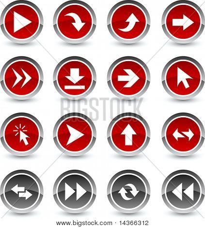 Arrows icon set. Vector illustration.
