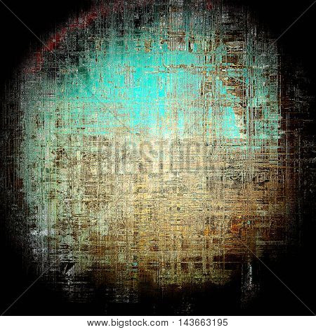 Spherical art grunge texture, vintage abstract background for creative design. With different color patterns: yellow (beige); brown; black; blue; gray; cyan