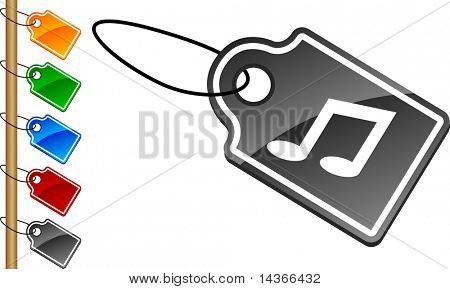 Music tag set. Vector illustration.