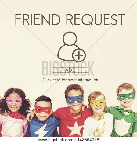 Add Friends Social Media Graphic Concept