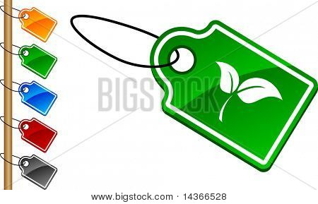 Ecology tag set. Vector illustration.