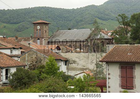 Belfry of Saint Jean Pied de Port in France.