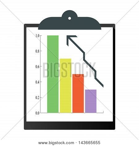 Clipboard.Vector illustration pattern paper clipboard graphic page