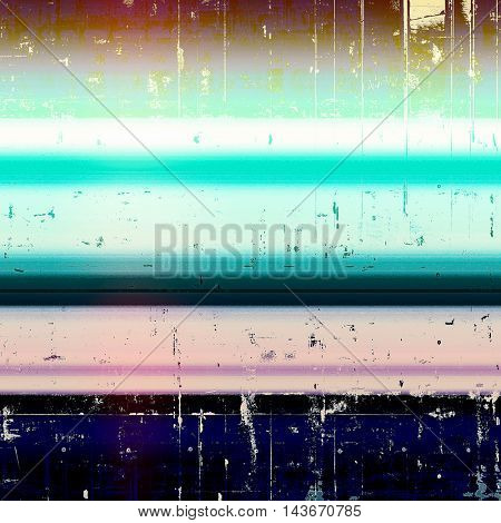 Vintage background in scrap-booking style, faded grunge texture with different color patterns: yellow (beige); black; blue; white; cyan; pink