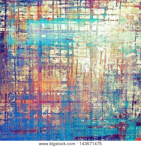 Creative elegant design used as retro background for your art project. With grunge texture and different color patterns: yellow (beige); blue; red (orange); purple (violet); white; pink