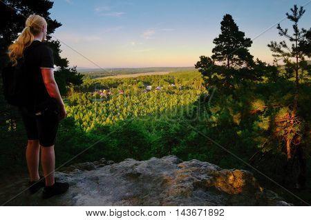 2016/08/07 - Hradcany Czech republic - photographer Jiri Igaz appeared view from the rock Hradcanska vyhlidka in tourist area Machuv kraj