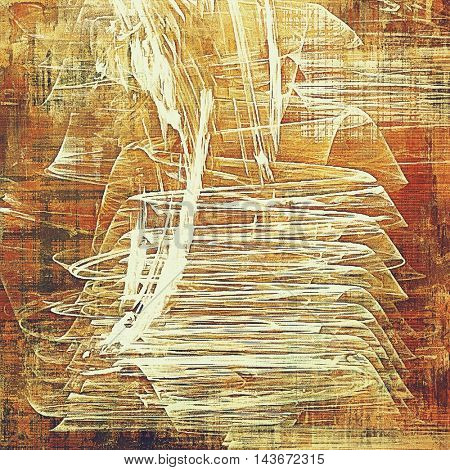 Oldest vintage background in grunge style. Ancient texture with different color patterns: yellow (beige); brown; red (orange); white; pink